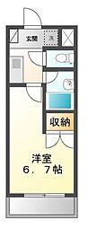 愛知県名古屋市天白区向が丘3の賃貸マンションの間取り