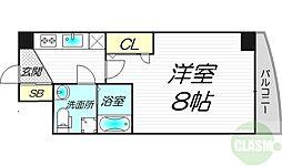 JR東海道・山陽本線 東淀川駅 徒歩4分の賃貸マンション 6階1Kの間取り