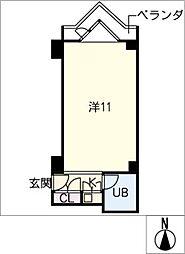 栄マンションS棟 610号室[6階]の間取り