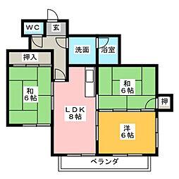 マンション旭ヶ丘[2階]の間取り