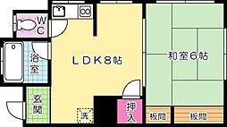 川江アパート[103号室]の間取り