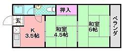 中岡第1マンション[303号室]の間取り