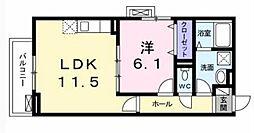 大阪府大阪市浪速区桜川4丁目の賃貸アパートの間取り