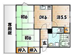 エスポワールホリI棟[2階]の間取り