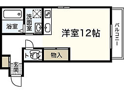 広島県広島市中区吉島町の賃貸アパートの間取り