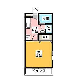 メゾーネマルクII[1階]の間取り