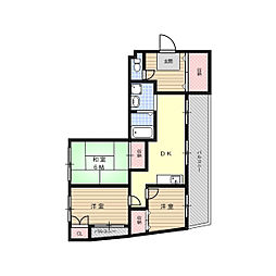 北清水マンション[3階]の間取り