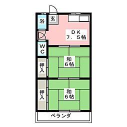 大野荘B棟[2階]の間取り