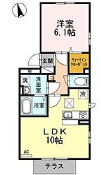 神奈川県川崎市宮前区宮崎1丁目の賃貸アパートの間取り
