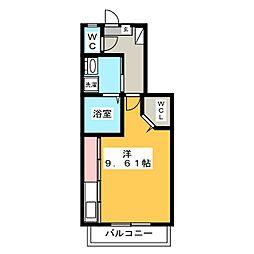 フェリスコート[2階]の間取り