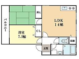 オカジマライフステージII[2階]の間取り