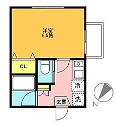 東京都世田谷区宮坂3丁目の賃貸アパートの間取り