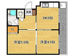 水戸田マンション[A104号室]の間取り