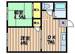 エフシリーズ東富井A棟[1階]の間取り