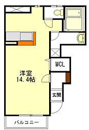 アンジェの郷 A棟[1階]の間取り