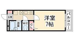 リバティハイム桜井II[102号室]の間取り