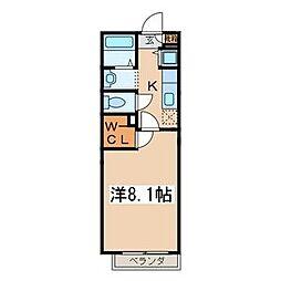 アッパーコート[102号室]の間取り