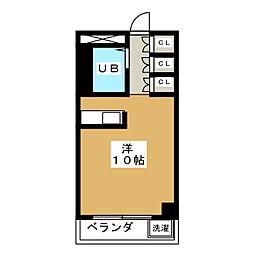 八晃ビル[5階]の間取り