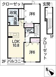 プリマヴェーラB[2階]の間取り