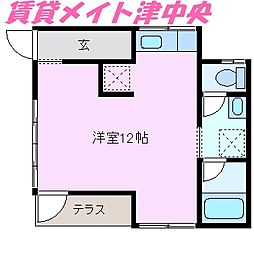 [一戸建] 三重県津市栄町3丁目 の賃貸【/】の間取り