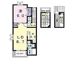 Eterno・M2[3階]の間取り