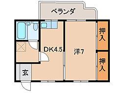 ネオハイツ次郎丸[2階]の間取り