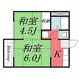 レピート佐倉[2階]の間取り