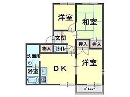 エスポワール太田[2階]の間取り