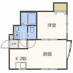 DUO HIRAGISHI[2階]の間取り