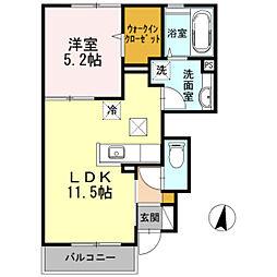 広島県広島市西区井口5丁目の賃貸アパートの間取り