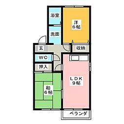 グリーンムクヘル[2階]の間取り