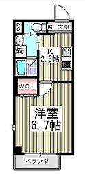 東京都墨田区千歳2丁目の賃貸マンションの間取り