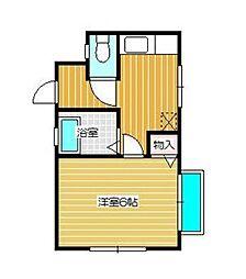 神奈川県相模原市南区双葉2丁目の賃貸アパートの間取り