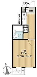 東京都渋谷区上原1丁目の賃貸マンションの間取り