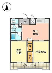 CASANOA名東(カーサノア)[2階]の間取り