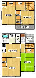 [一戸建] 栃木県宇都宮市下栗町 の賃貸【/】の間取り