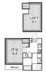 レクセルズ[1階]の間取り