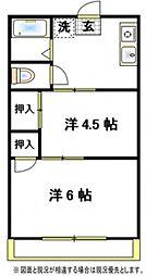 ひのきハイム[2階]の間取り