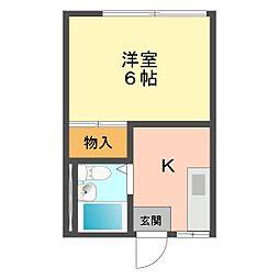 東京都葛飾区細田5の賃貸アパートの間取り