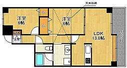 ダイアパレス宝塚クオリテージ4[702号室]の間取り