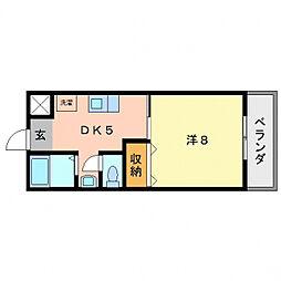 西尾ハウス[2階]の間取り
