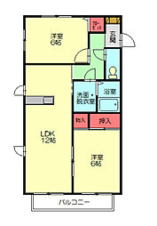 サンライズUEKI[2階]の間取り