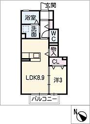 ジー ウィズダム A棟[1階]の間取り