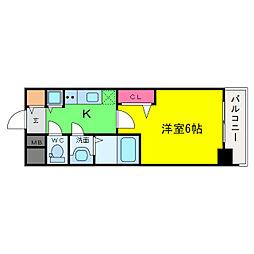 プレサンス大阪福島レシェンテ[12階]の間取り