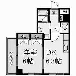ガーディアン千代田[5階]の間取り