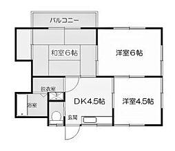 ハイム中里C[2階]の間取り