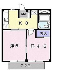 島田ハイツB[1階]の間取り