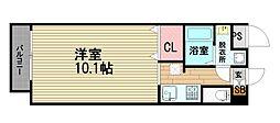 大阪府大阪市東成区深江北2丁目の賃貸マンションの間取り