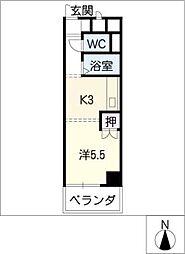 オーク斎藤[5階]の間取り