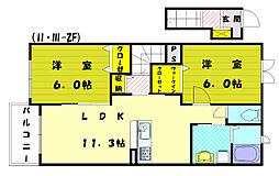 メゾンド・フローラⅠ[2階]の間取り